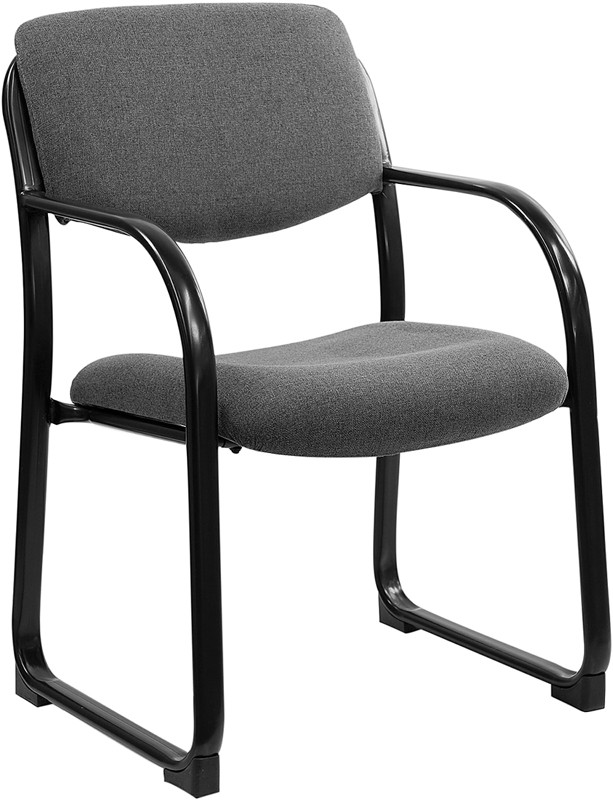 Flash Furniture BT-508-GY-GG Gray Fabric Upholstered Open Back Side Chair