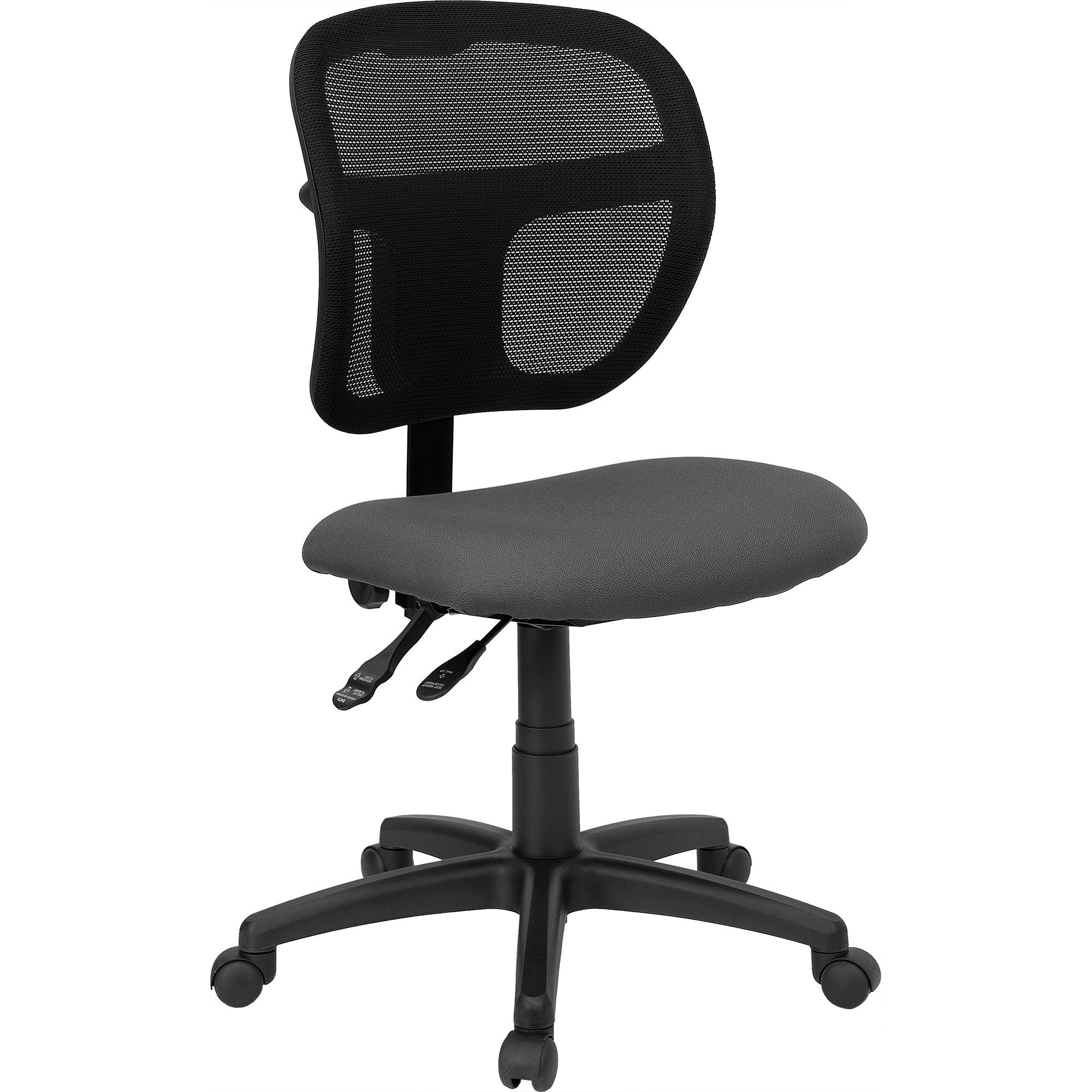 Gray Fabric and Mesh Task Chair