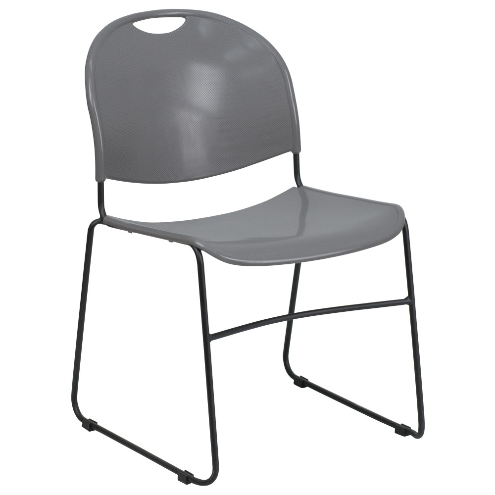 Gray High Density-High Tech, Ultra Compact Stack Chair
