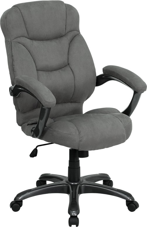 Flash Furniture GO-725-GY-GG Gray Microfiber High Back Office Chair