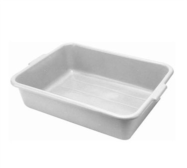 "Franklin Machine Products  280-1245 Gray Polyethylene Bus Box 15"" x 20"" x 7"" Deep"