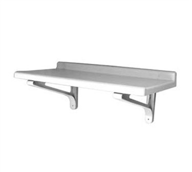 "Franklin Machine Products  247-1185 Gray Polypropylene Adjustable Wall Shelf 48"" x 18"""