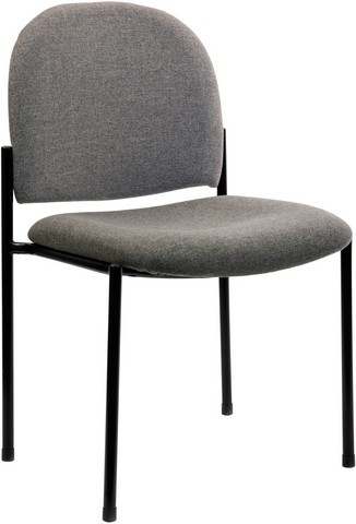 Gray Steel Stacking Chair