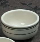 "Yanco GB-95 Green Band 4 3/8""Jung Bowl 9.5 oz."