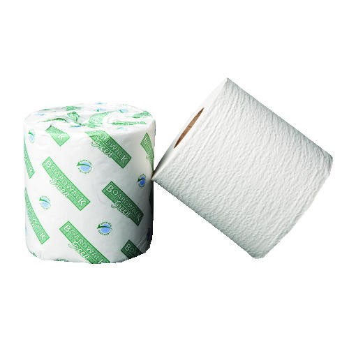 Green Bathroom Tissue, 2-Ply, White, 500 Sheets/Roll