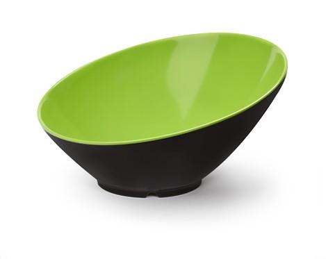 G.E.T. Enterprises B-792-G/BK Brasilia Green/Black 24 oz. Melamine Cascading Bowl