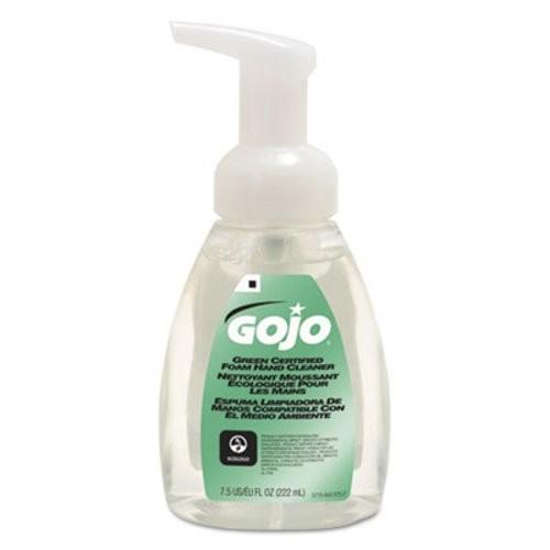 Green Certified Foam Hand Cleaner, Fragrance-Free, Clear, 7.5 oz Pump Bottle