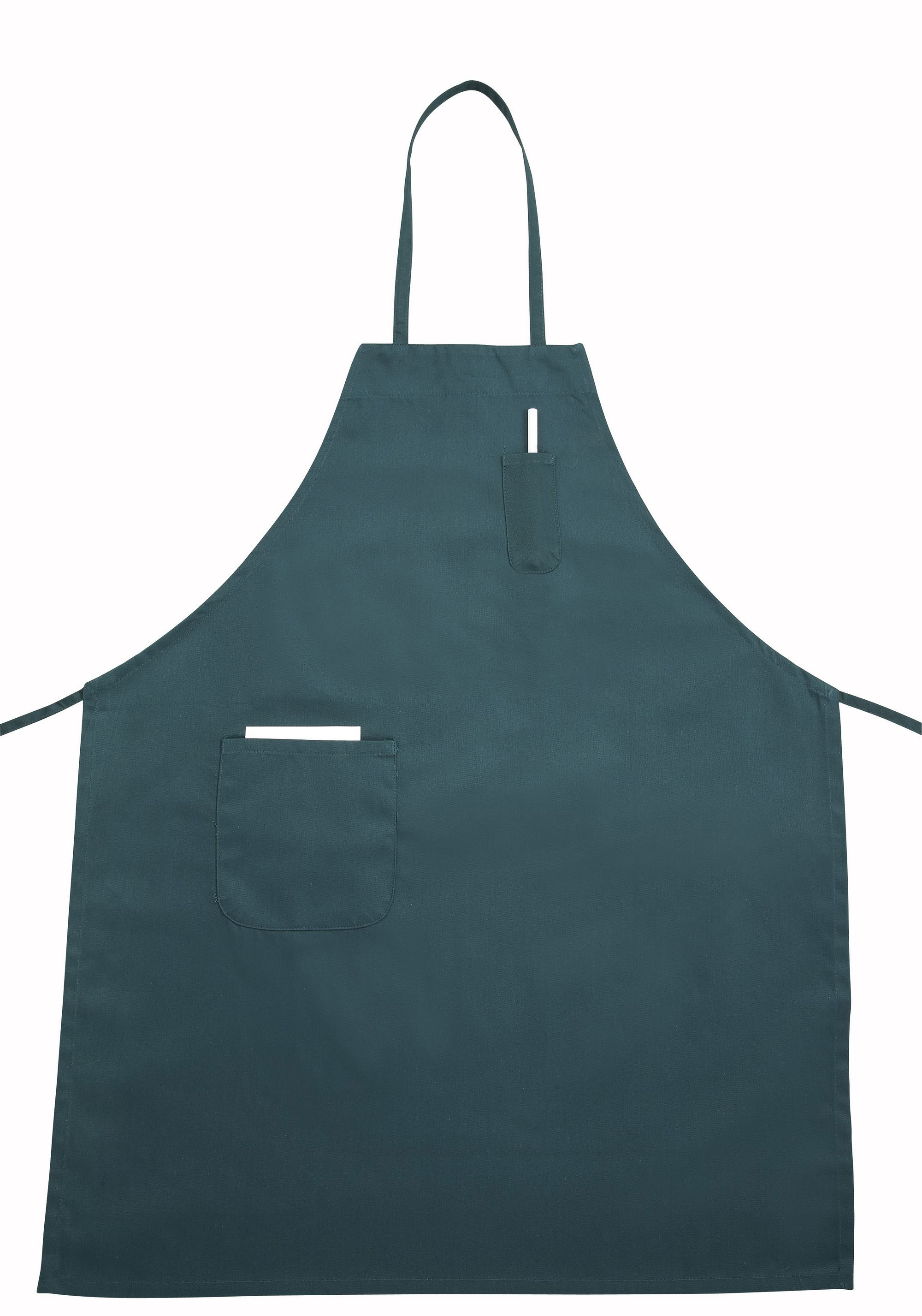 Green Full-Length Bib Apron With Pocket - 31 X 26