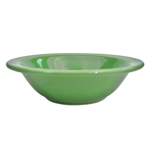 CAC China LV-10-G Las Vegas Rolled Edge Green Grapefruit Bowl 13 oz.