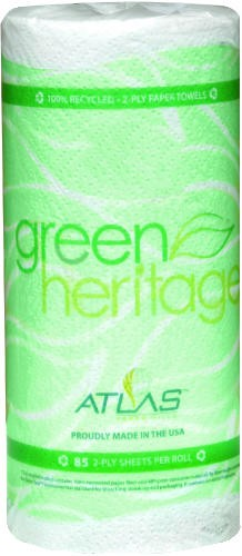 Green Heritage Kitchen Towel Rolls
