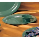Thunder Group ML536GR Green Melamine 2.5 oz. Smooth Ramekin 2-7/8""