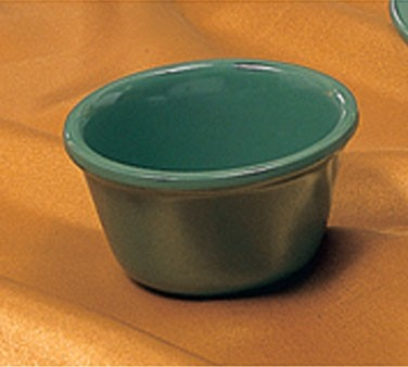Thunder Group ML538GR Green Melamine 4 oz. Smooth Ramekin 3-3/8""