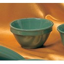 Thunder Group CR313GR Green Melamine 8 oz. Bouillon Cup 4-1/4""