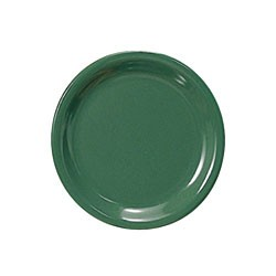 Thunder Group CR106GR Green Melamine Narrow Rim Round Plate 6-1/2""