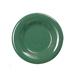 Thunder Group CR107GR Green Melamine Narrow Rim Round Plate 7-1/4""