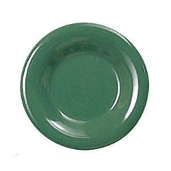 Thunder Group CR109GR Green Melamine Narrow Rim Round Plate 9""