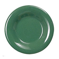 Thunder Group CR110GR Green Melamine Narrow Rim Round Plate 10-1/2""