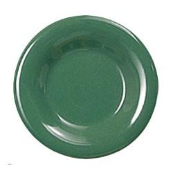 Green Melamine Narrow Rim Round Plate - 10-1/2