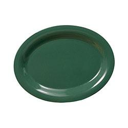 """Thunder Group CR209GR Green Melamine Oval Platter, 9-1/2"""" x 7-1/4"""""""