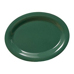 "Thunder Group CR212GR Green Melamine Oval Platter, 12"" x 9"""