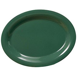 "Thunder Group CR213GR Green Melamine Oval Platter, 13-1/2"" x 10-1/2"""