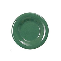 Thunder Group CR006GR Green Melamine Wide Rim Round Plate 6-1/2""