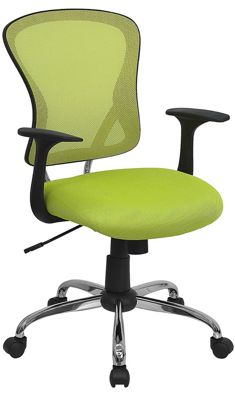 Flash Furniture H-8369F-GN-GG Mid-Back Green Mesh Executive Office Chair