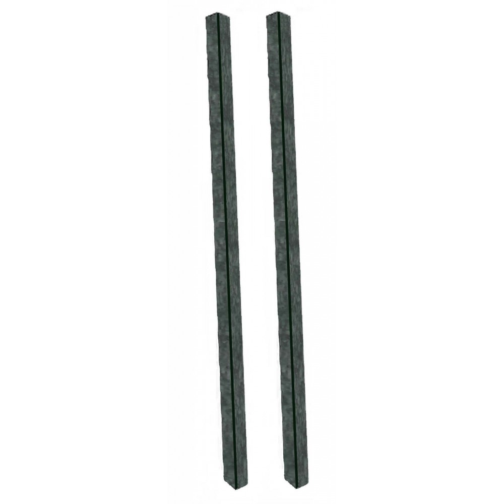 Green Plastic Lumber Post Set