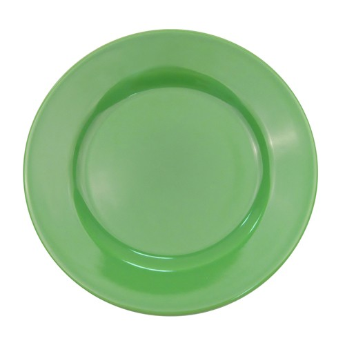CAC China LV-16-G Las Vegas Rolled Edge Green Plate 10 1/2""