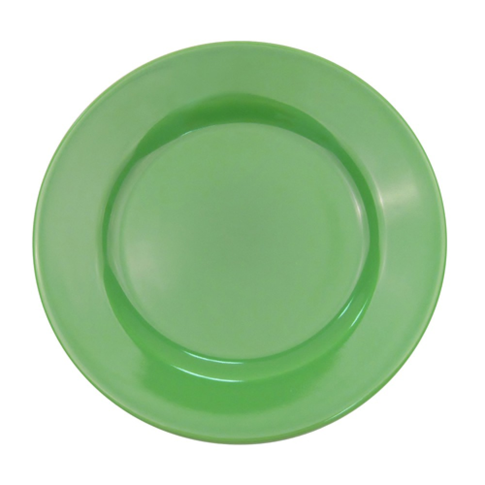 CAC China LV-21-G Las Vegas Rolled Edge Green Plate 12""