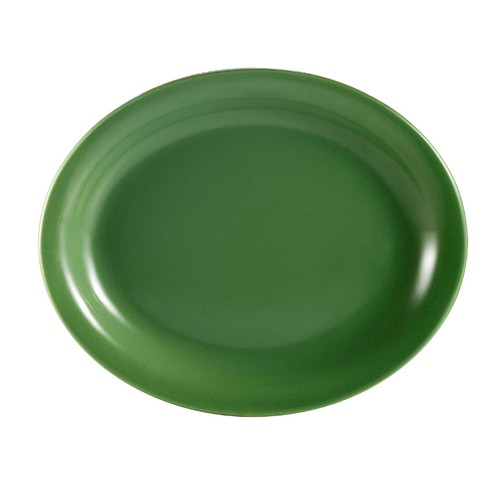 CAC China L-13NR-G Las Vegas Narrow Rim Green Platter, 11 1/2""