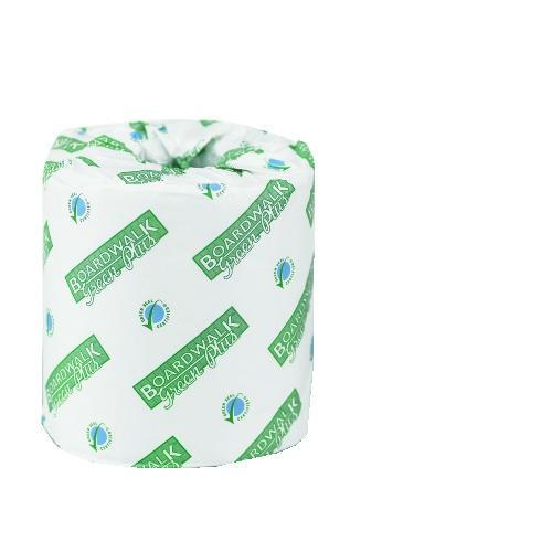 Green Plus Bathroom Tissue, 2-Ply, White, 500 Sheets/Roll