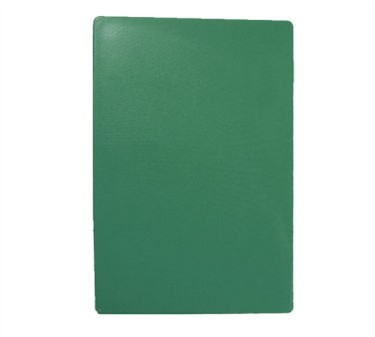 """TableCraft CB1218GNA Green Polyethylene Cutting Board 12"""" x 18"""" x 1/2"""""""