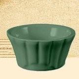 CAC China RMK-F3 -G Festiware Green Floral Ramekin 3 oz.