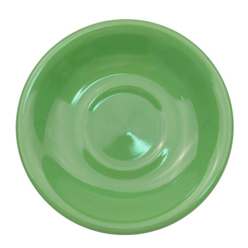 CAC China LV-2-G Las Vegas Rolled Edge Green Saucer, 6""