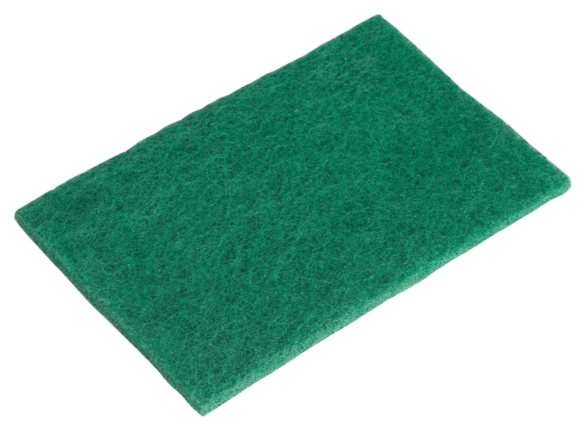 """Winco SP-96N Green Scouring Pad Pack 6"""" x 8-3/8"""""""