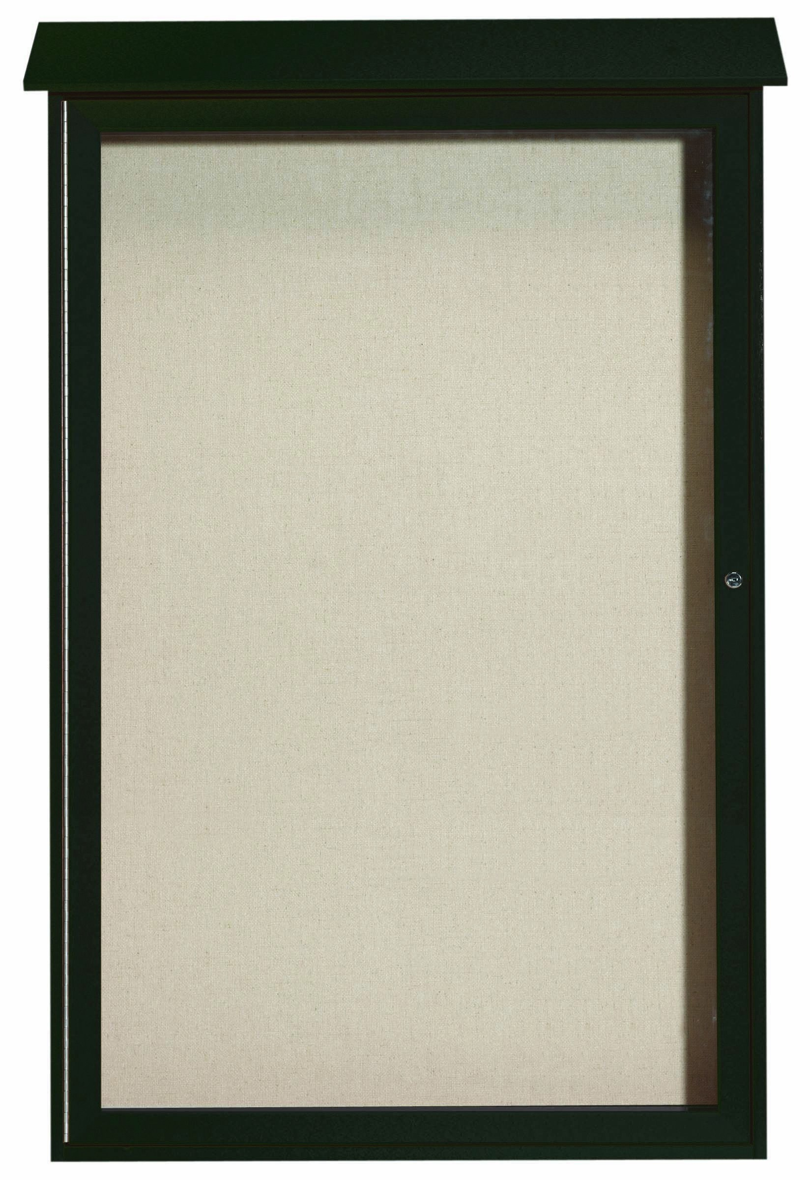"""Aarco Products PLD5438-4 Green Single Hinged Door Plastic Lumber Message Center with Vinyl Posting Surface, 54""""H x 38""""W"""