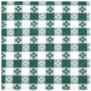 "Winco TBCS-52G Green Checkered Square Vinyl Table Cloth 52"" x 52"""