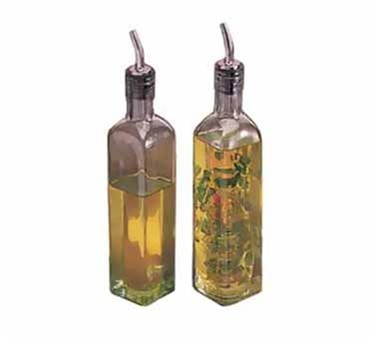 TableCraft 916 Green Glass 16 oz. Prima Olive Oil Bottle with Pourer