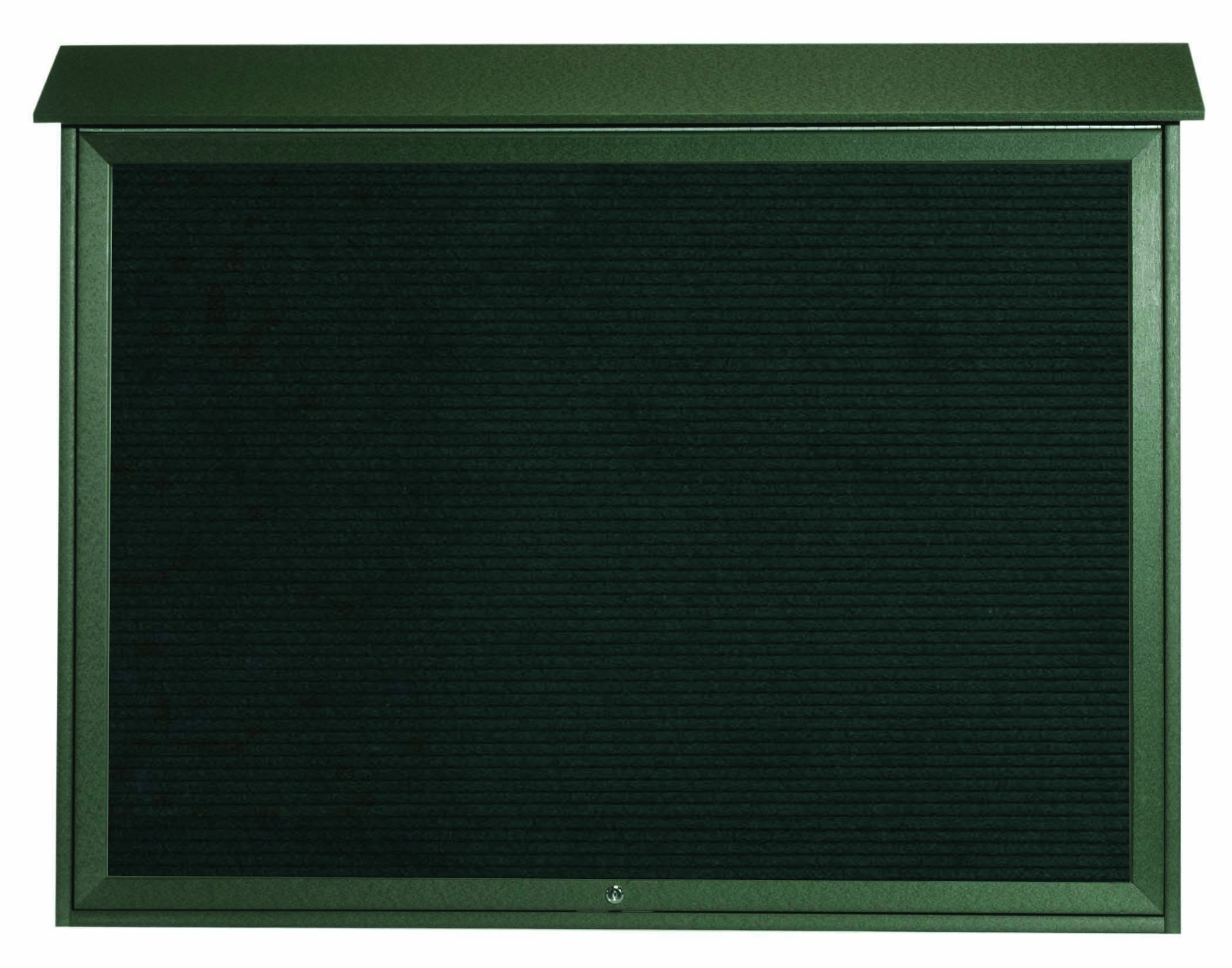 "Aarco Products PLD4052TL-4 Green Top Hinged Single Door Plastic Lumber Message Center with Letter Board, 40""H x 52""W"