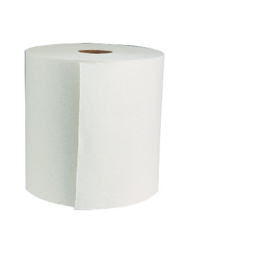 Green Universal Roll Paper Towels, Natural White, 8