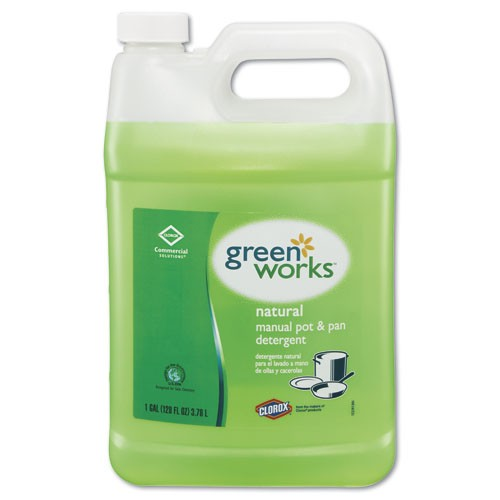 GreenWorks Pot & Pan Dishwashing Liquid, 128 Oz Bottles