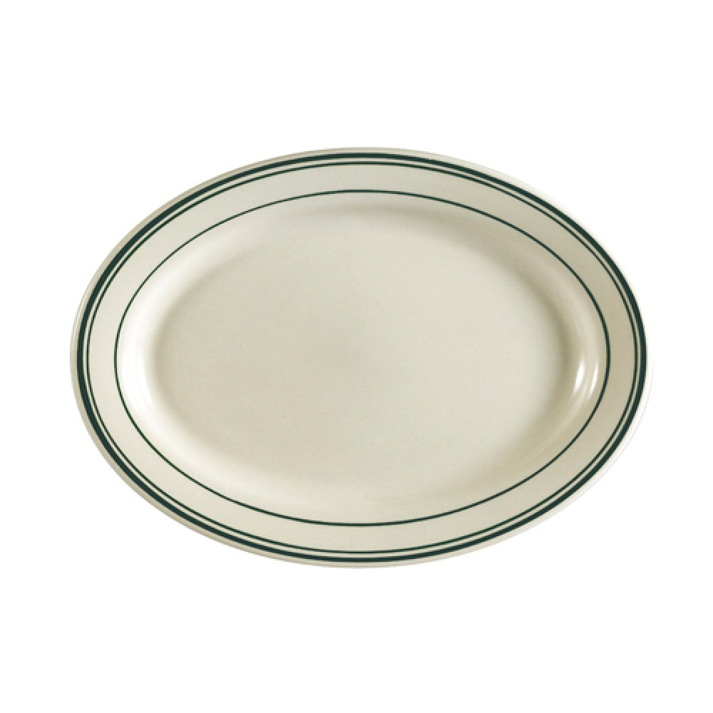 "CAC China GS-51 Greenbrier Oval Platter, 15-1/2"" x 10"""