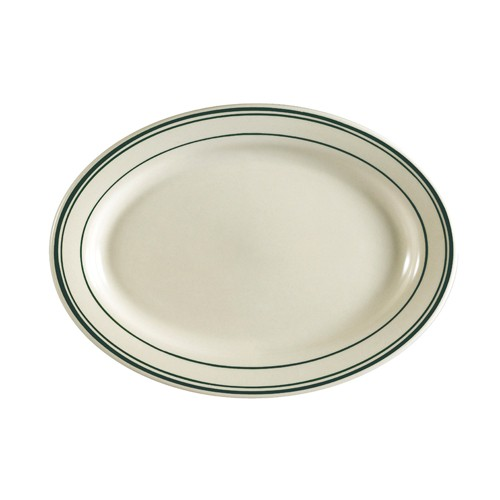 "CAC China GS-33 Greenbrier Oval Platter, 7"" x 4-5/8"""