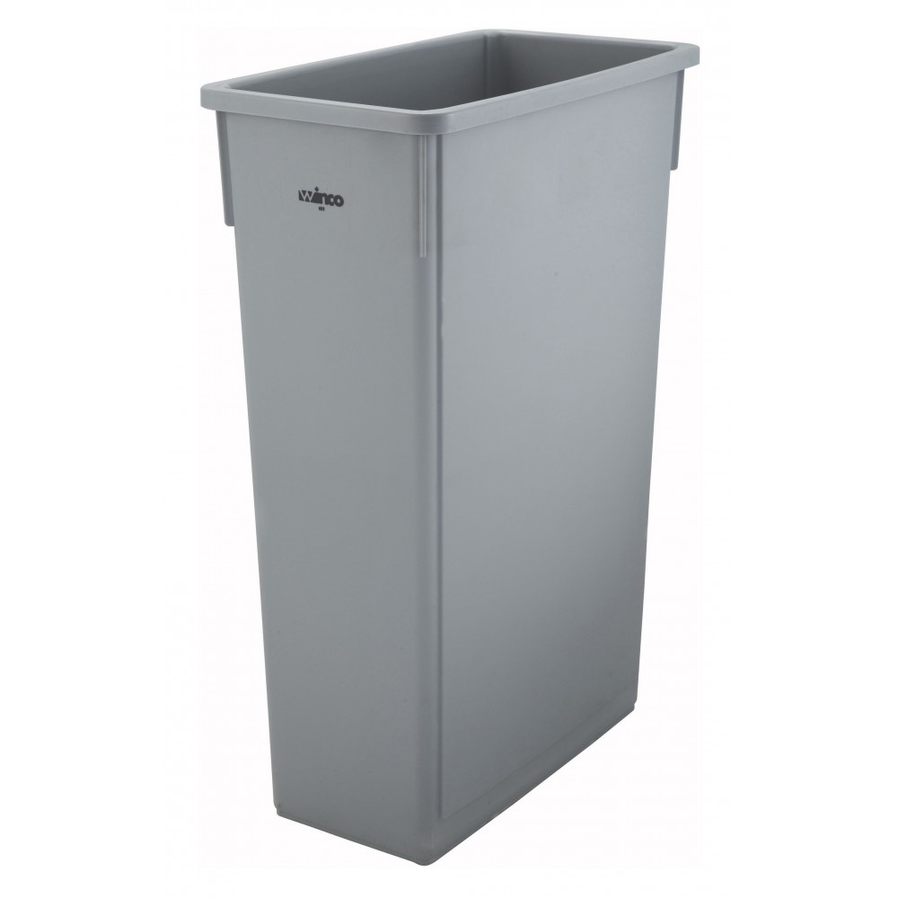 Grey 23-Gallon Slender Trash Can Without Lid