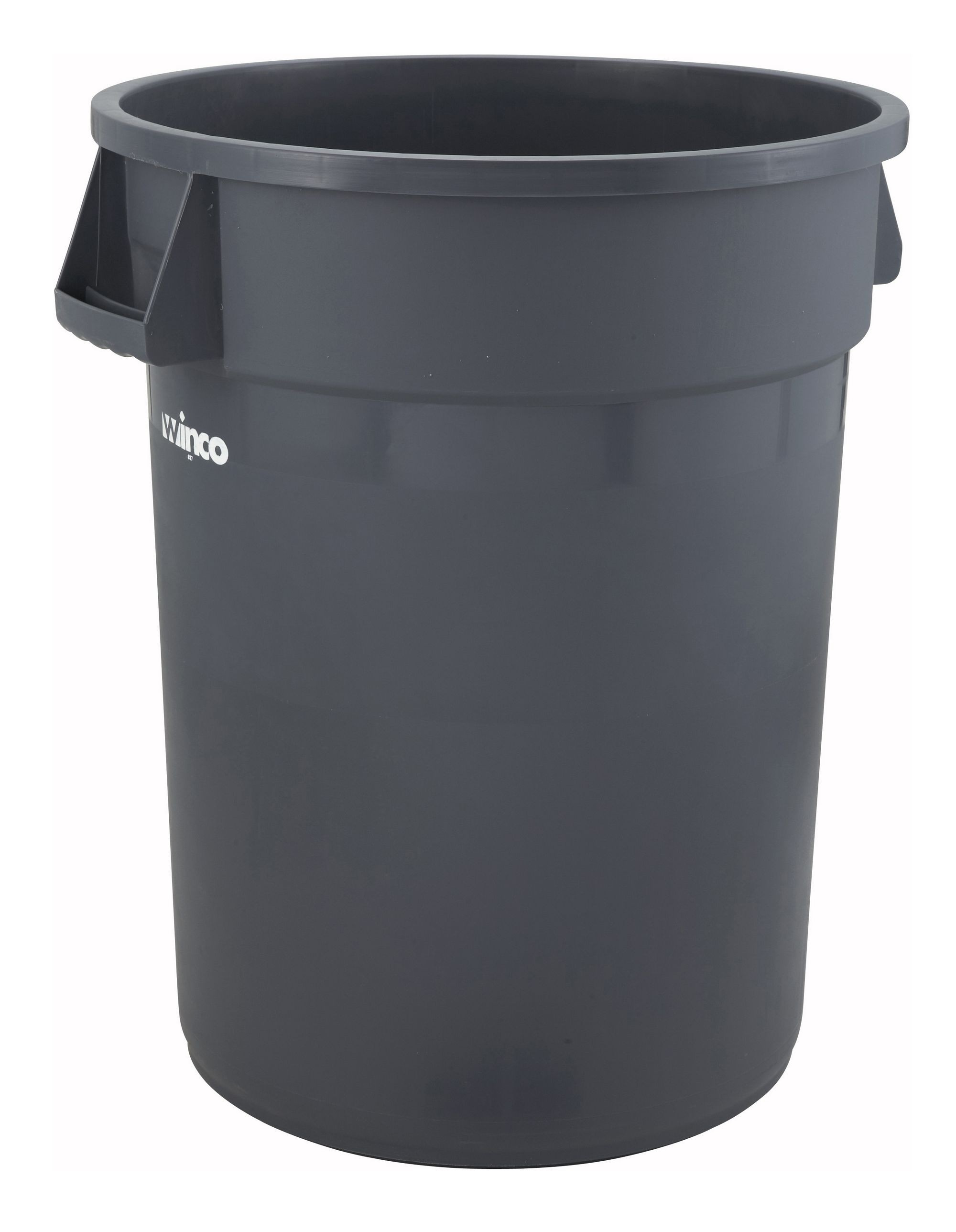 Winco PTC-32G Grey 32 Gallon Trash Can