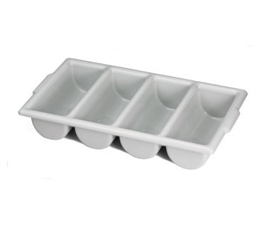 Grey 4-Compartment High Density Poly Cutlery Holder - 21