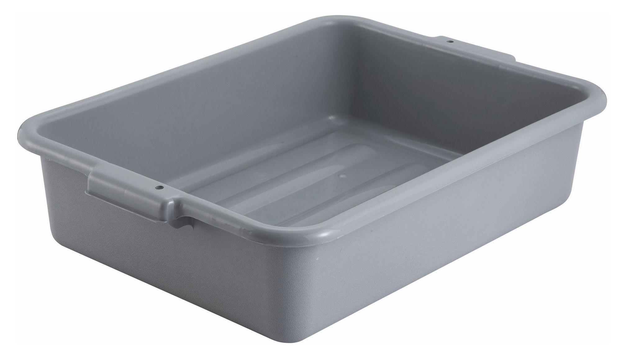 "Winco PL-5G Grey Dish Box 20-1/4"" x 15-1/2"" x 5"""