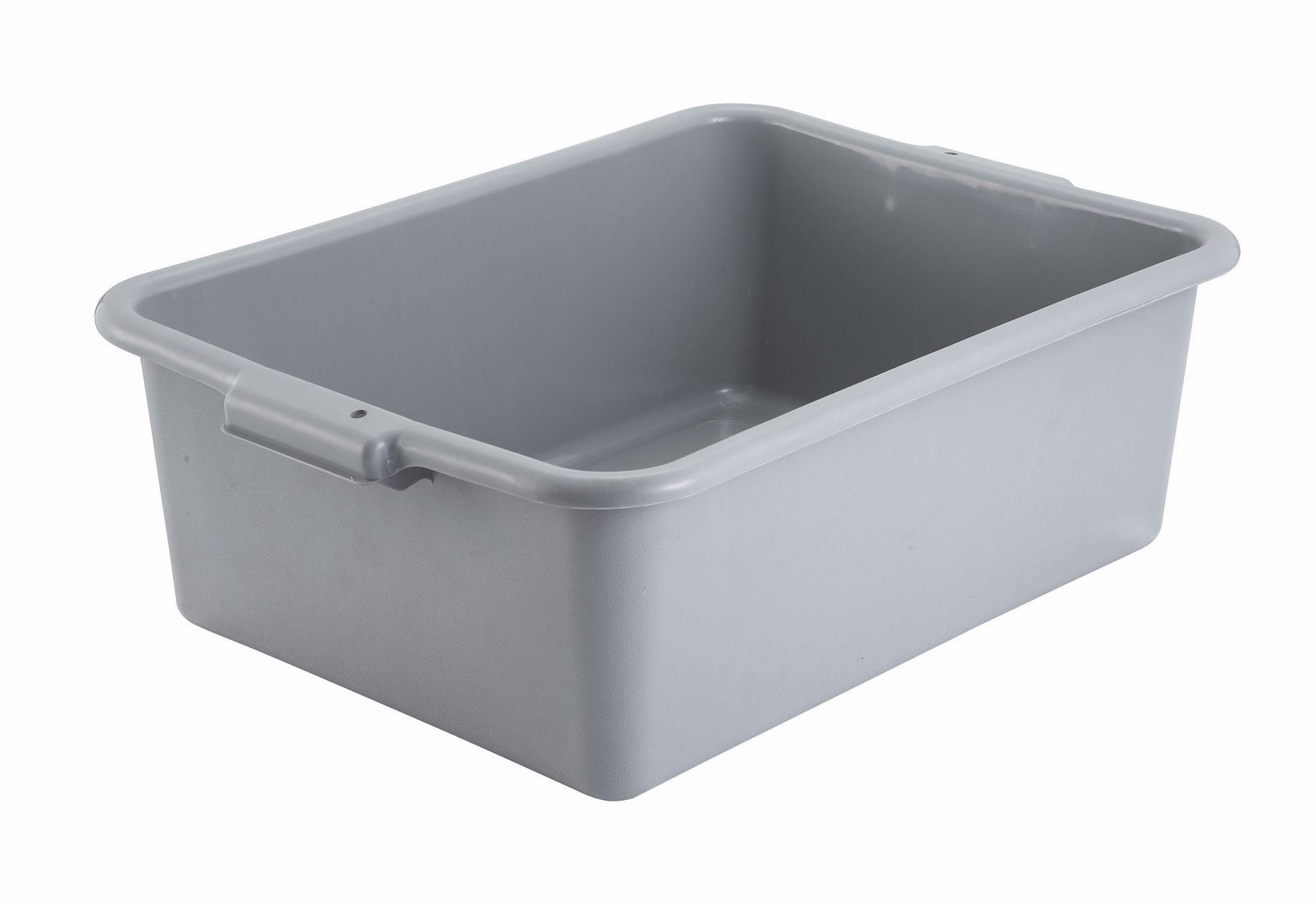 "Winco PL-7G Grey Dish Box 20-1/4"" x 15-1/2"" x 7"""