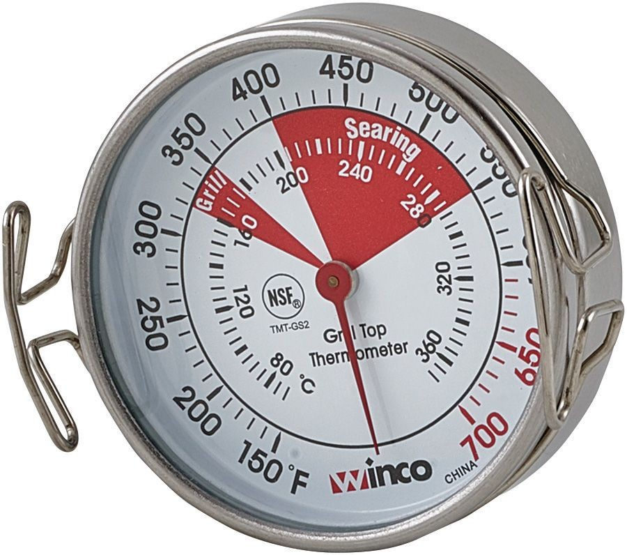 """Winco TMT-GS2 Grill Surface Thermometer with Stainless Steel Casing 2-1/5"""""""